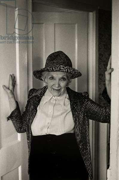 Jean Rhys, 1974 (b/w photo)