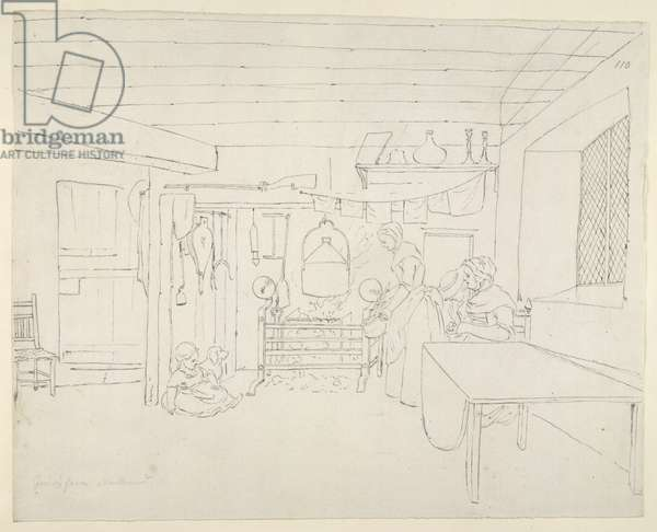 Add MS 15543, Pinnacle Island, Grieve's farmhouse (pen & ink on paper)