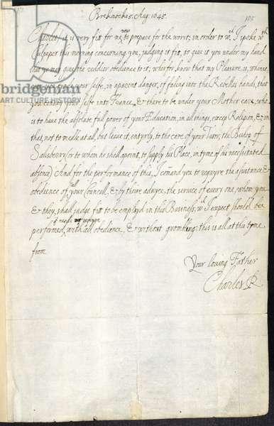 Letter of Charles I