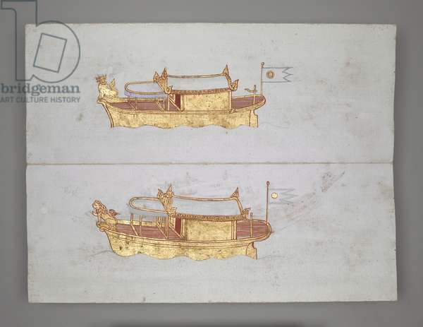 Or 14005 Royal Barges and Boats (ink, colour & gold on paper)