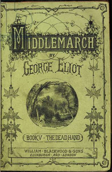 Illustrated Title Page for 'Middlemarch. A Study of provincial life' by George Eliot, 1871-72 (litho)