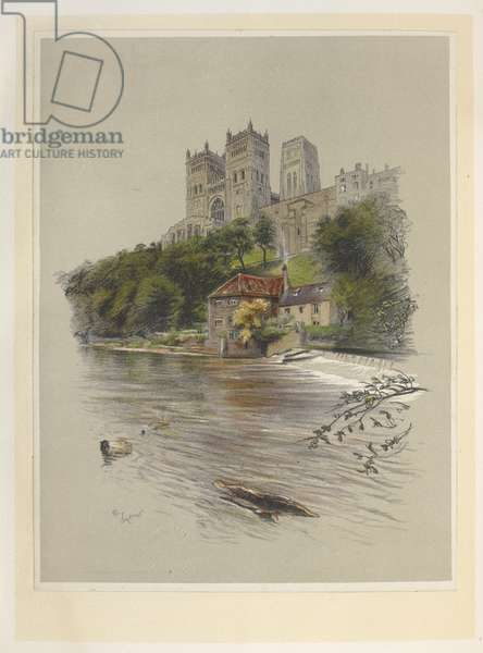 Durham Catherdal.Cathedrals (and Abbey Churches) of England. Illustrated by C. Aldin. Cecil Aldin, 1870-1935.London, 1924