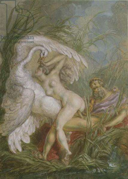Leda and the Swan, from Histoire Universelle, 1740's