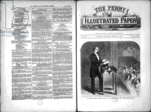 Front page of the Penny Illustrated Paper, 19 March 1870 (newsprint)