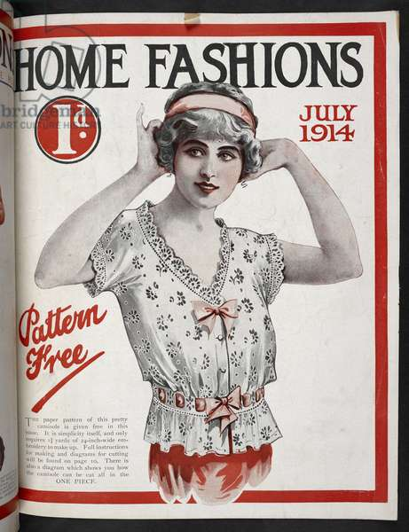 A womam wearing a camisole.