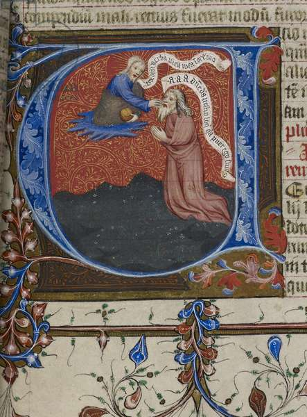 Royal MS 1 E IX, f.193 Jeremiah inspired by God (vellum)