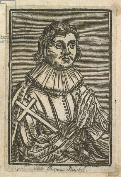 A portrait of Thomas Bushell, Frontispiece to 'The First Part of Youth Errors', 1628 (litho)