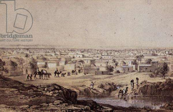 Kano from Mount Dala, 10th January 1850, sketch by Dr Barth from his travels and discoveries in North and Central Africa
