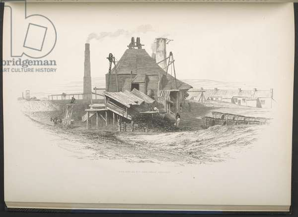 Jubilee Pit, Coxlodge Colliery, from 'A Series of Views of the Collieries in the Counties of Northumberland and Durham', By T. H. Hair, 1844 (engraving)