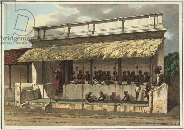 Hindoo school, 1834 (coloured aquatint)