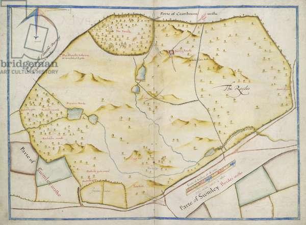 A map of Sunning Hill Park