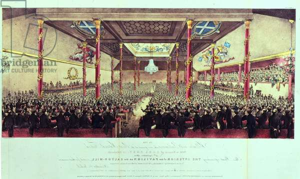 The Interior of the Pavillion on the Calton-Hill during the Grey Festival, 1834 (w/c on paper)