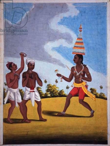 Add.Or.689 Dancers of the Mariyamman Cult, c.1805 (colour litho)
