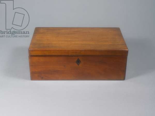 Portable writing desk that belonged to Jane Austen. Closed, front view.