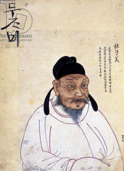Du Fu (712-770 AD) (colour litho)