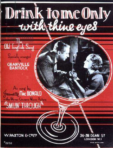"""Drink to me only with thine eyes"", arranged by Granville Bantock, sung by Jeanette MacDonald"