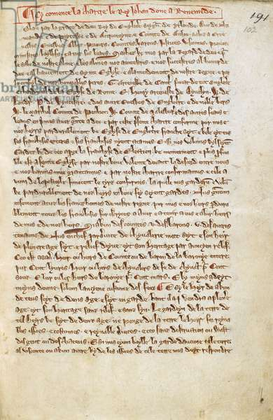 Translation of the Magna Carta into Anglo-Norman French