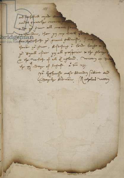 Letter from Nicholas Wotton to King Henry VIII concerning Holbein's portrait of Anne of Cleves