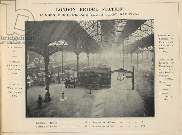 London bridge station. (London bridge, and south coast railway.)