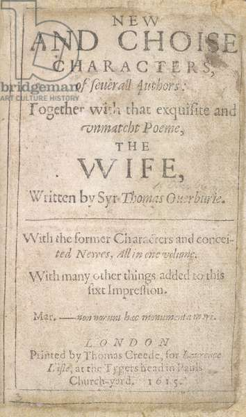 Title page of 'New and choise characters'