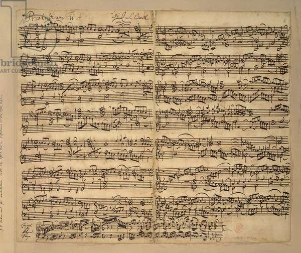 Add MS 35021, f.8r, F major prelude, Das Wohltemperierte Clavier, book 2, by Johann Sebastian Bach, 1739-42 (pen & ink on paper)