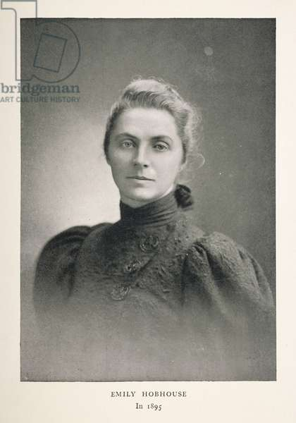 Emily Hobhouse, 1895 (b/w photo)
