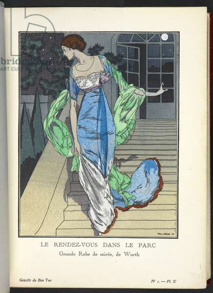 COPYRIGHT? Paul Méras (French French), Illustrating design by House of Worth (French, 1858-1956),