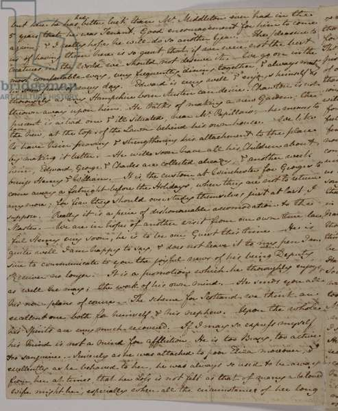 Letter from Jane Austen to her brother Frank, 3 July 1813 (pen & ink on paper)
