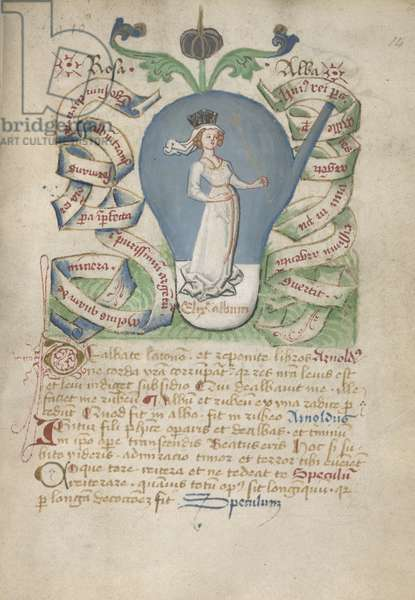Ms Sloane 2560, f.14 from the Alchemical Treatises, late 15th century (vellum)