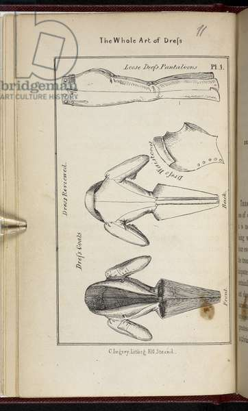 Plate 2: Dress reviewed.The Whole Art of Dress! or, The Road to elegance and fashion ... By a Cavalry Officer. [With plates.]1830