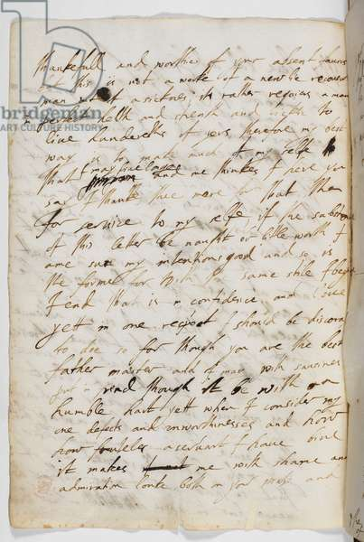 Middle page of a letter from George Villiers to King James I, 29 August 1623.