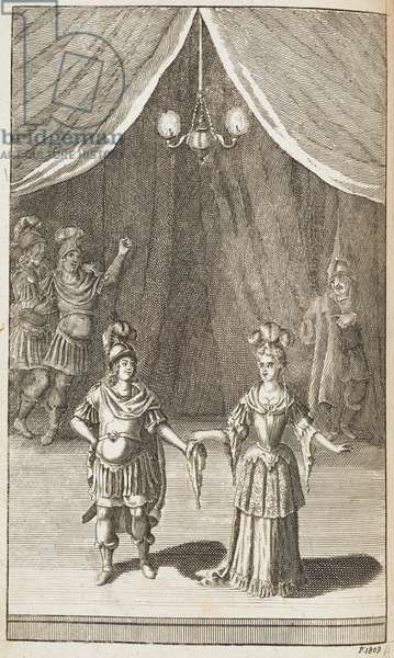 Illustration for the play by Shakespeare, 'Trolius and Cressida'.