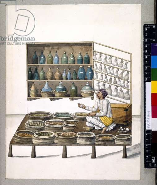 Add Or 1106 A seller of medicines, 1798-1804 (w/c on paper)