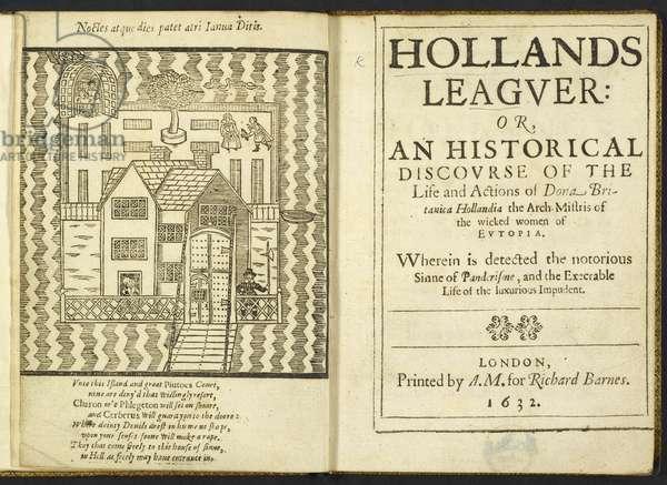 17th-century brothel in Nicholas Goodman's 'Holland's Leaguer', 1632 (engraving)