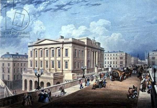 Fishmongers' Hall: taken from London Bridge, 1836 (print)