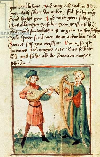 Ms Add 17987 fol.86v The sanguine temperament, 1446 (vellum)