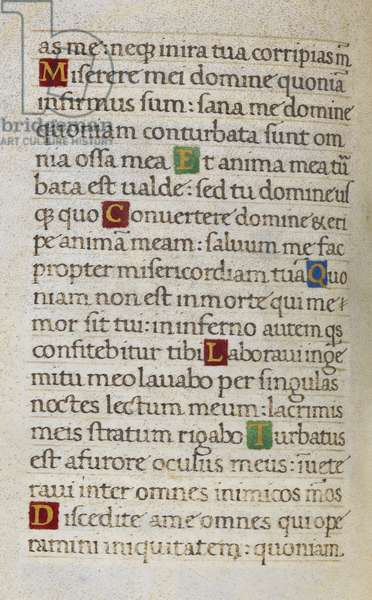 Text page; Psalm 6