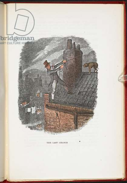 The Last Chance, The Adventures of Oliver Twist ... With twenty-four illustrations by Cruikshank, 1911 (colour litho)