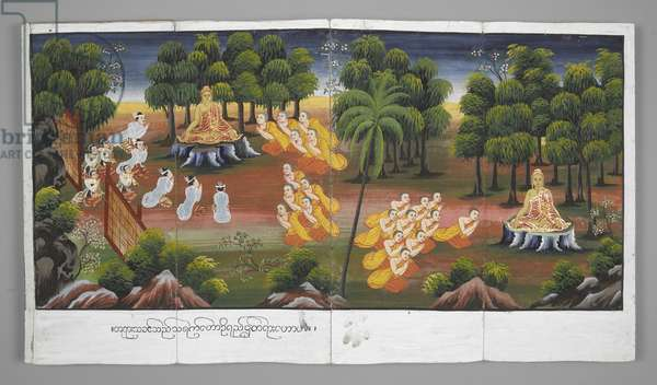 Or. 13534, f.21 Scenes from the Life of Buddha (parchment)