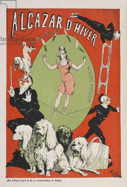 Alcazar d'Hiver, 'Les affiches illustrées. Ouvrage orné de...', by Ernest Maindron, 1886 (colour litho)