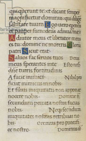 Text page; the Litany