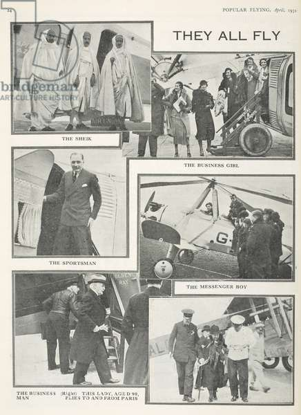 They All Fly.  Page from Popular Flying, April 1932