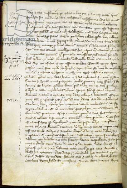 Black Death Chronicle, written at the cathedral priory of Rochester between 1314 and 1350 (pen & ink on paper)