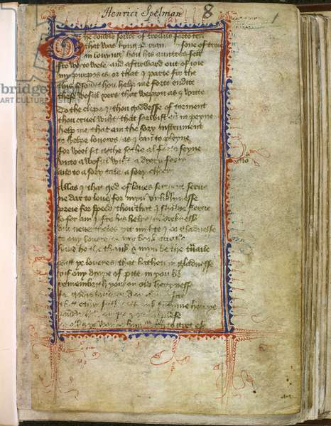 Harley 2392, f.1 Troilus and Criseyde, by Geoffrey Chaucer (vellum)