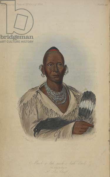 Muk-a-tah-rnish-o-kali-kaik, the Black Hawk. A chief.