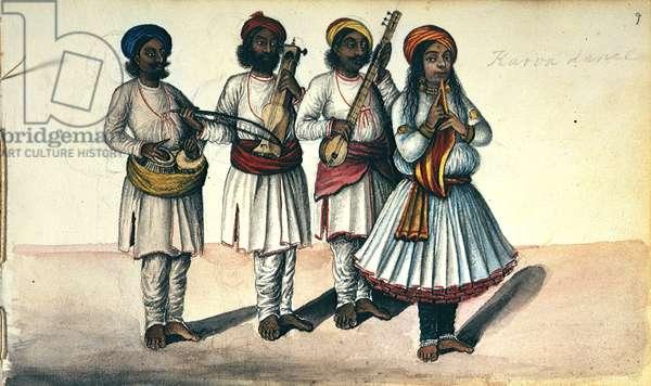 A dancing girl, 1856 (colour litho)