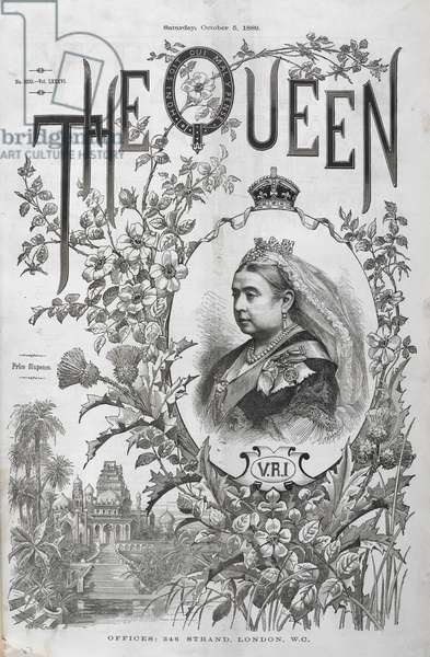 A portrait of Queen Victoria.