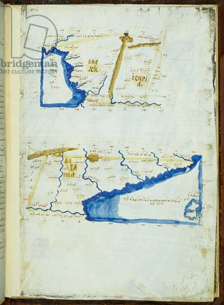 Map of Colchis, Iberia and Albania, by Claudius Ptolemy