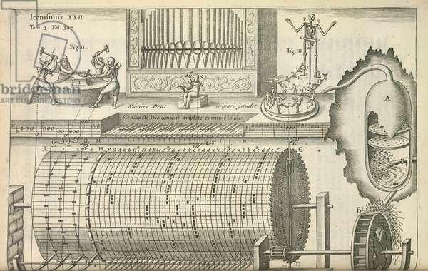 An organ, 1650 (engraving)