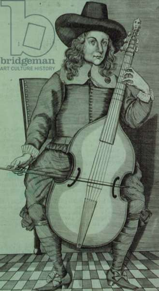 K.I.i.ii (I) page 3 The Division Violist, from Christopher Simpson's 'Divisionist Violist', pub. 1659 (engraving)
